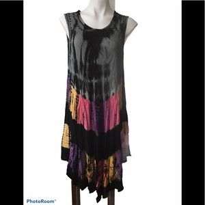 India Boutique tie dye casual dress